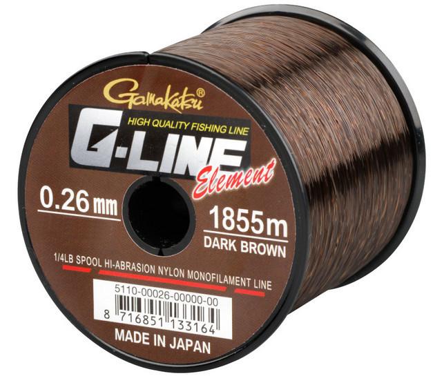 Fir Gamakatsu G-Line Element Dark Brown (Diametru fir: 0.35 mm) Gamakatsu Oferta pescar-expert