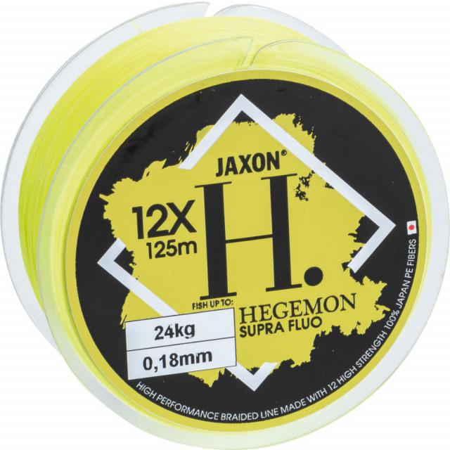 Fir Textil Jaxon Hegemon Supra 12 X, galben fluo, 125m (Diametru fir: 0.20 mm) Jaxon Oferta pescar-expert