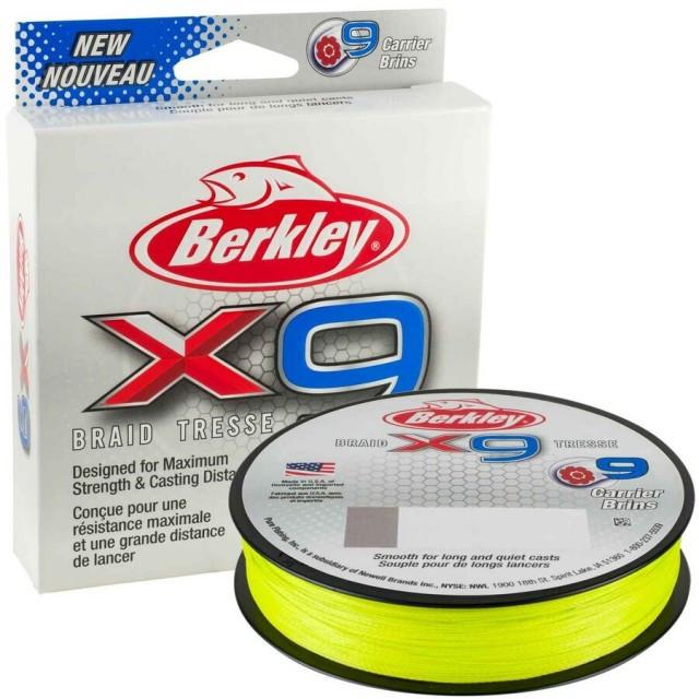 Fir textil X9 Low Vis galben fluo 150m Berkley (Diametru fir: 0.30 mm) Berkley Oferta pescar-expert