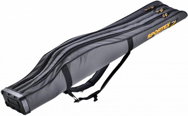 Husa Rigida Sportex Super Safe III Grey, 3 Lansete + 3 Mulinete (Lungime husa: 125 cm) Sportex Oferta pescar-expert