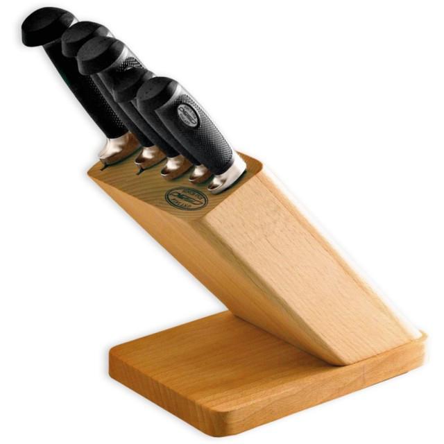 Set cutite CRP 5 bucati + suport din lemn Marttiini