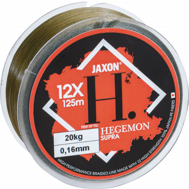 Fir Textil Jaxon Hegemon Supra 12 X, Olive, 125m (Diametru fir: 0.18 mm) Jaxon Oferta pescar-expert