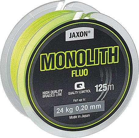 Fir textil Monolith Fluo 125m Jaxon (Diametru fir: 0.18 mm) Jaxon Oferta pescar-expert