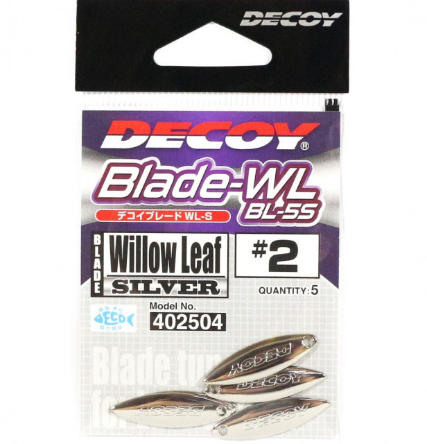 Paleta Oscilanta Decoy BL-6S Willow, Leaf Silver (Marime: 3) Decoy Oferta pescar-expert