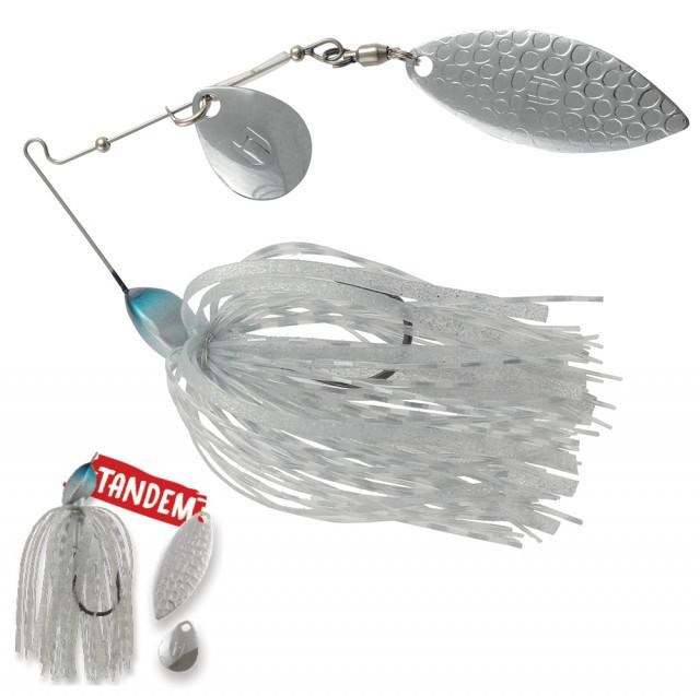 Spinnerbait Herakles Flatter Compact Tandem, Silver, 7g Herakles Oferta pescar-expert