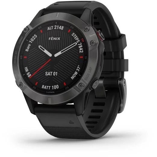 Ceas SmartWatch Garmin Fenix 6X Sapphire Black, 47mm