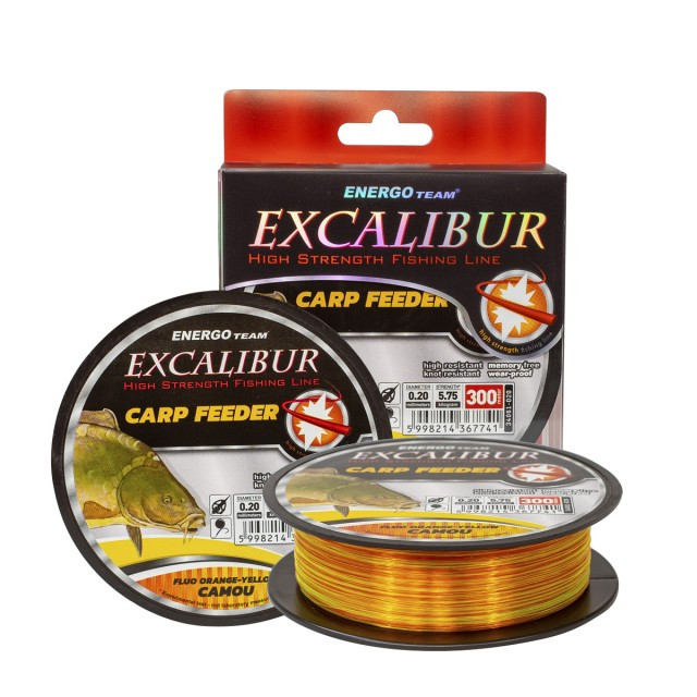 Fir EnergoTeam Excalibur Carp Feeder, multicolor, 300m (Diametru fir: 0.35 mm) EnergoTeam Oferta pescar-expert