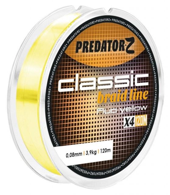 Fir textil Predator-Z Classic Braid galben fluo 120m Carp Zoom (Diametru fir: 0.14 mm) Carp Zoom Oferta pescar-expert