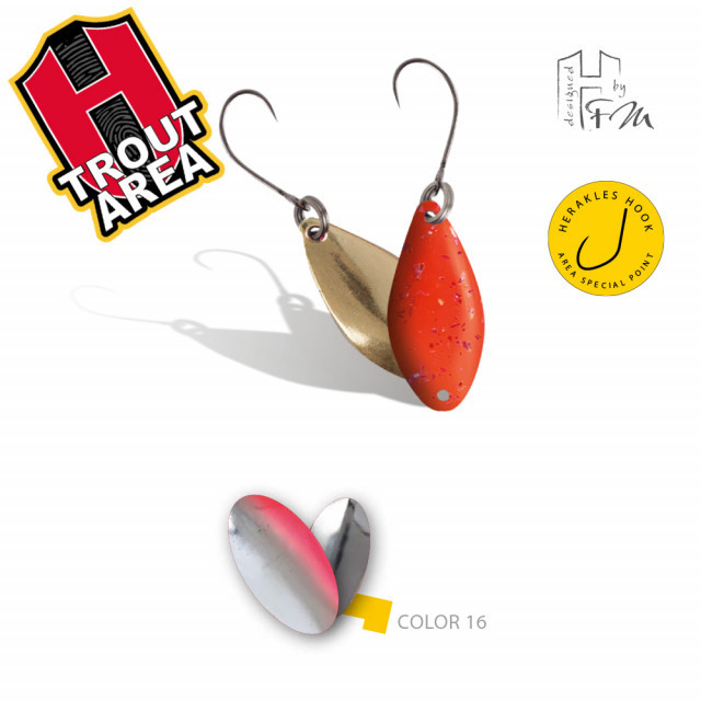 Oscilanta Herakles Spike, Culoare 16 - Silver Red, 1g Herakles Oferta pescar-expert