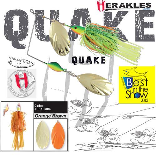 Spinnerbait Herakles Quake, Orange/Brown, 42g Herakles Oferta pescar-expert