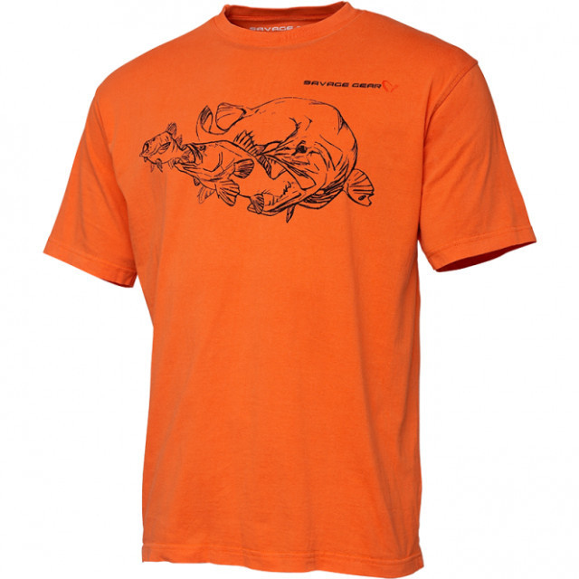 Tricou Savage Gear Cannibal Ink, portocaliu