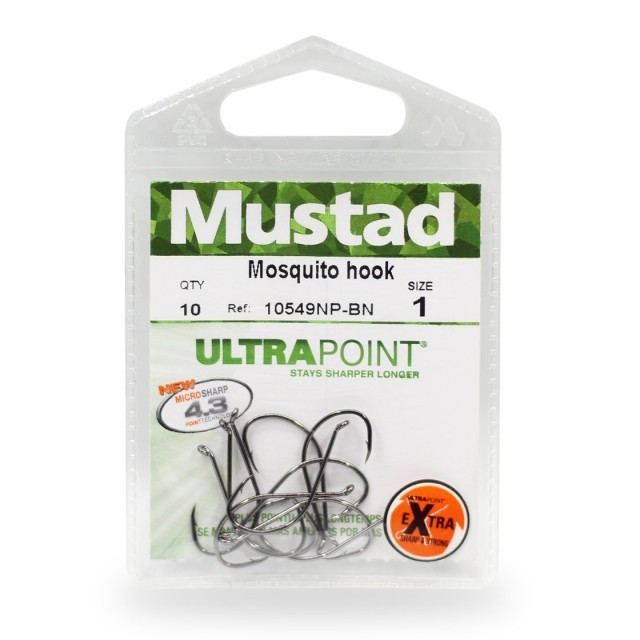 Carlige Mustad Ultrapoint 10549 nichel negru, 10buc (Marime: 2) Mustad Oferta pescar-expert
