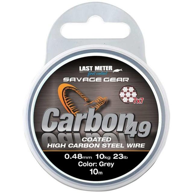 Fir din otel pentru strune Carbon49 10m Savage Gear