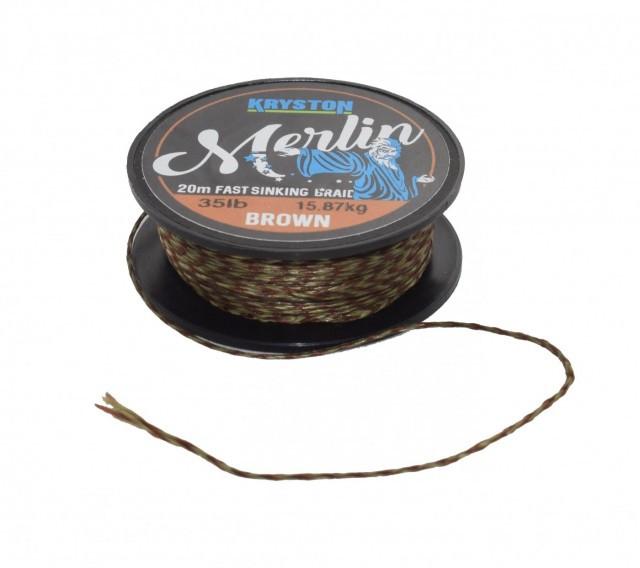 Fir textil Fast Sinking Supple maro 20m Kryston (Rezistenta: 15 lbs) Kryston Oferta pescar-expert