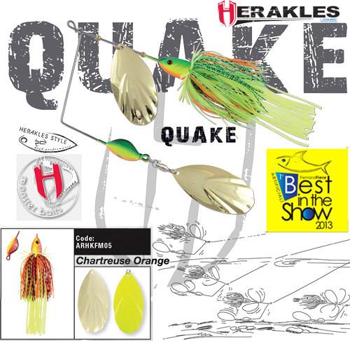 Spinnerbait Herakles Quake, Chartreuse/Orange, 42g Herakles Oferta pescar-expert