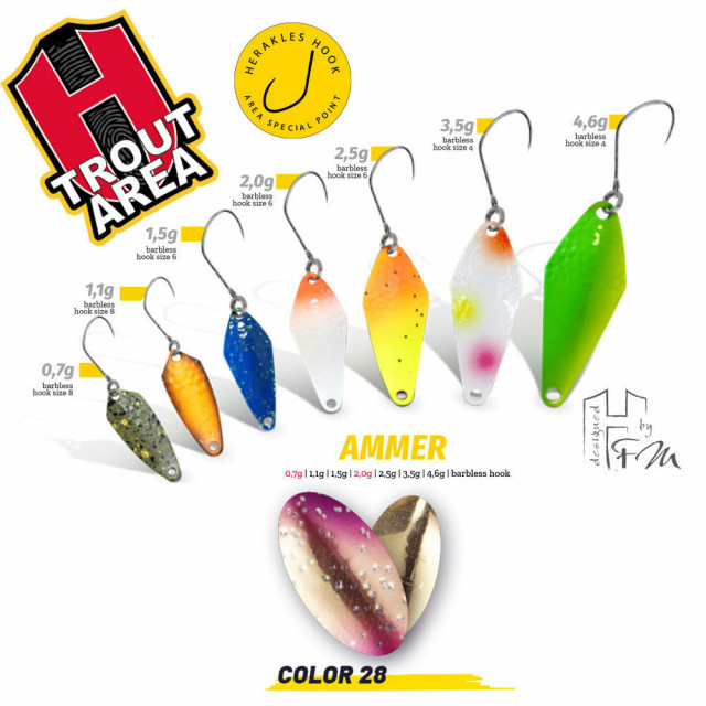 Oscilanta Herakles Ammer, Culoare 28 - Golden Trout, 2.5g Herakles Oferta pescar-expert