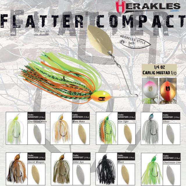 Spinnerbait Herakles Flatter Compact, Chartreuse/White, 7g Herakles Oferta pescar-expert