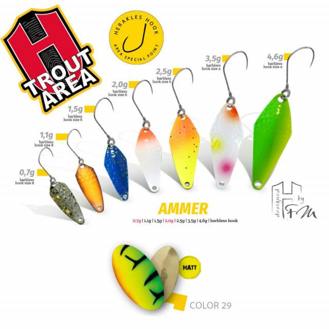 Oscilanta Herakles Ammer, Culoare 29 - Matt Firetiger/Gold, 1.5 g Herakles Oferta pescar-expert