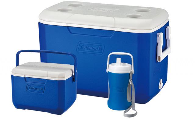 Set 2 lazi frigorifice Coleman + bidon 2L