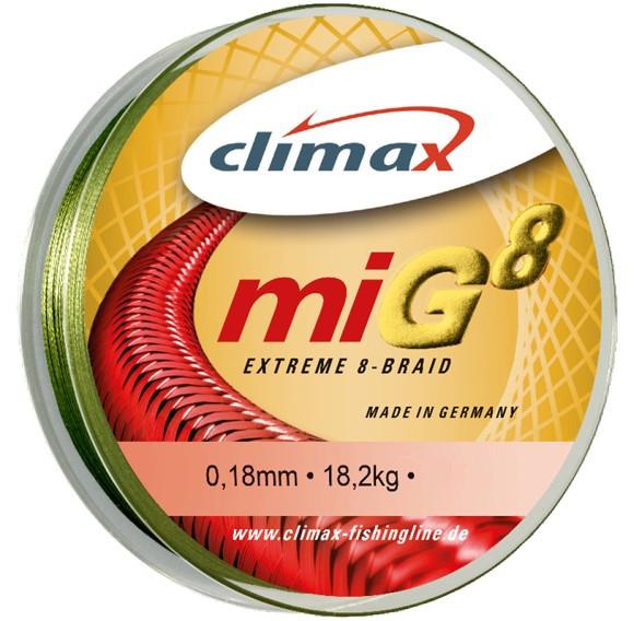 Fir Textil Climax MIG 8, verde, 135m (Diametru fir: 0.12 mm) Climax Oferta pescar-expert