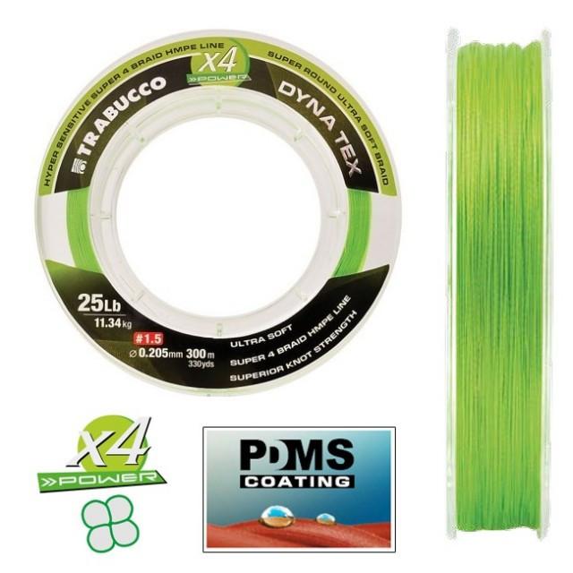 Fir X4 Power Lime Yellow, 150m Trabucco (Diametru fir: 0.06 mm) Trabucco Oferta pescar-expert