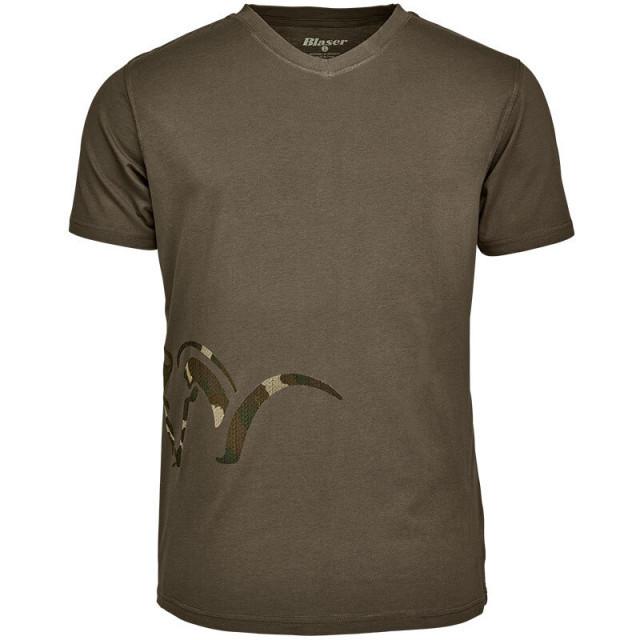 Tricou Blaser Logo V, Olive