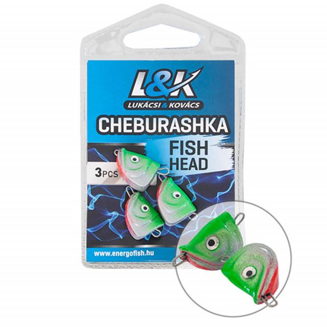 Plumb L&K Cheburashka Fish Head, 4buc/plic (Greutate plumb: 6g) L&K Oferta pescar-expert