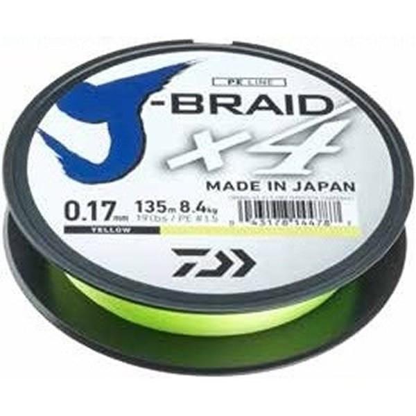 Fir textil J-Braid X4 135m Daiwa