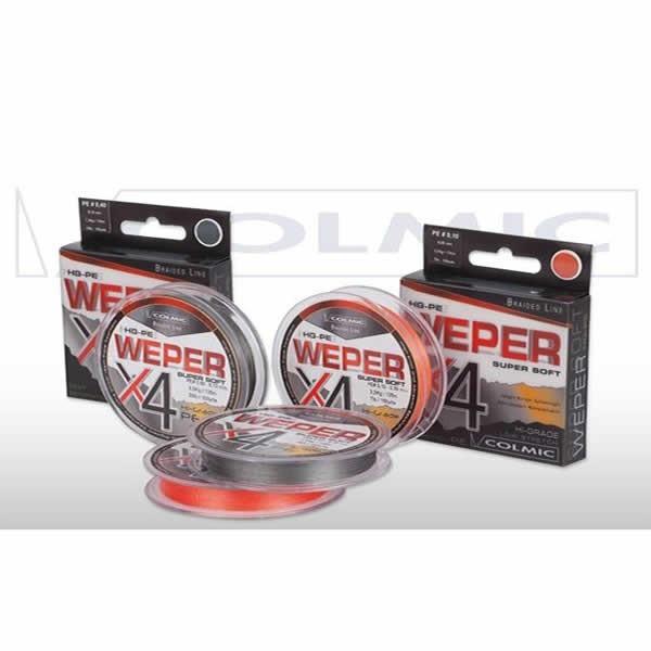 Fir Textil Weper X4 Orange 150yds 137m (Diametru fir: 0.25 mm) Colmic Oferta pescar-expert