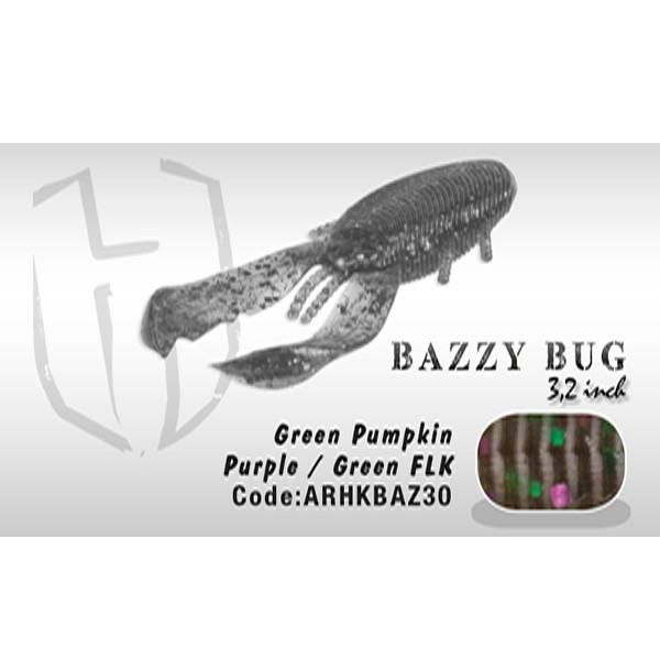 "Vobler Bazzy Bug 3.2"" 8cm Green Pumkin Purple/Green Flk Herakles Herakles Oferta pescar-expert"