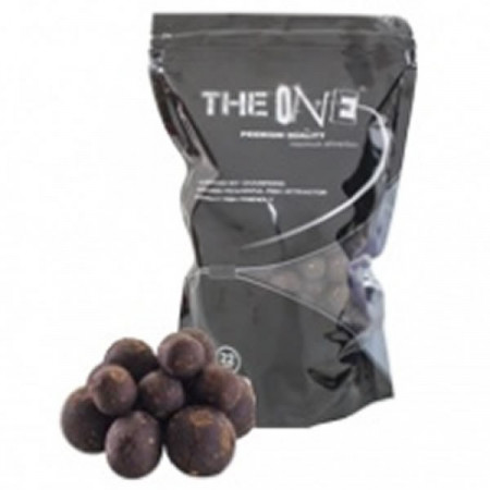 Poze Boilies Solubil  The Black One 18mm / 1kg The One