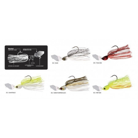 Poze Spinnerbait Windex Chatterbait Texas Red 10.5g Rapture