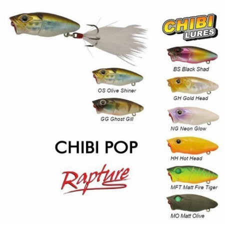 Poze Vobler Chibi Pop Floating Matt Olive 3.7cm, 2.5g Rapture