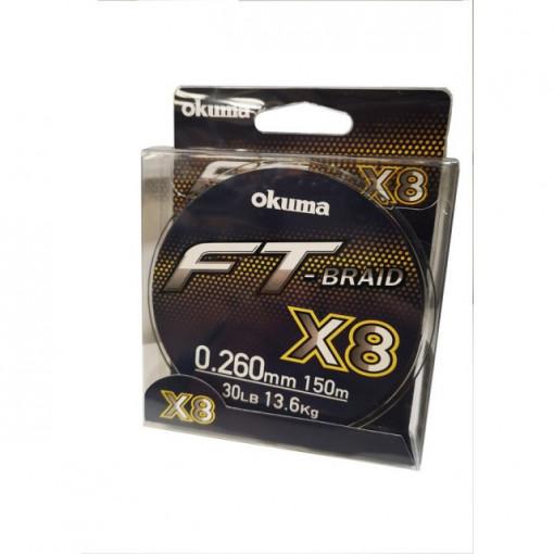 Fir textil Okuma FT-Braid X8, verde 150m