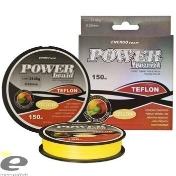 Fir Power Braid Teflon galben fluo 150m EnergoTeam