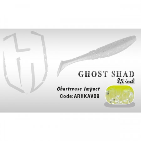 Poze Shad Ghost 8.5cm Chartreuse Impact Herakles