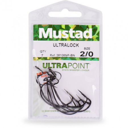 Carlige Offset Mustad Ultrapoint BLN, 7 buc