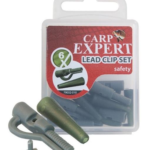 Kit Montura Plumb Pierdut Carp Expert Lead Clip, 6buc