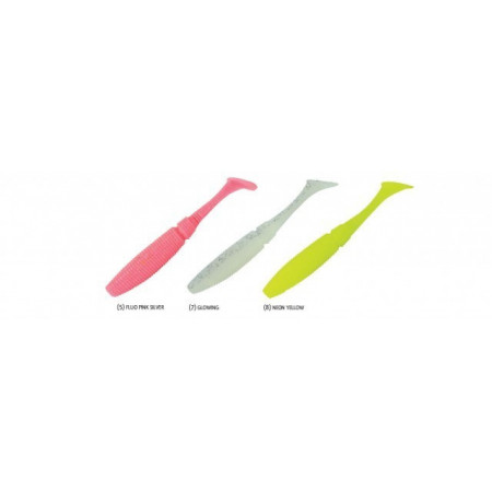 Poze Shad Power Shad Dual Fluo Pink Silver 11.5cm, 6buc/plic Rapture