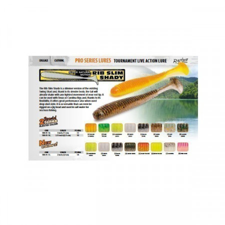 Poze Shad RIB Slim Shady Yellow&Orange 7.5cm, 12buc/plic Rapture