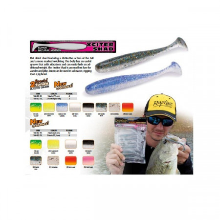 Poze Shad Xciter Shad Chartreuse Ghost 5cm 12buc/plic Rapture