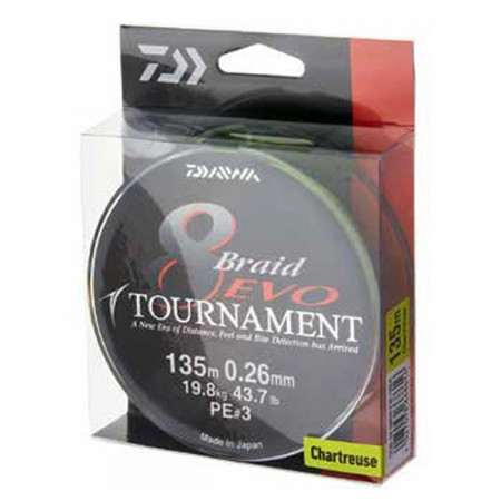 Poze Fir Daiwa Tournament X8 Evo Chartreuse 135m
