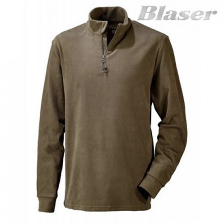 Poze Hanorac Fleece maro Troyer basic Blaser