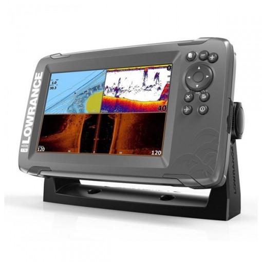 Sonar Lowrance Hook2-7 TripleShot Transducer + Chartplotter + TotalScan
