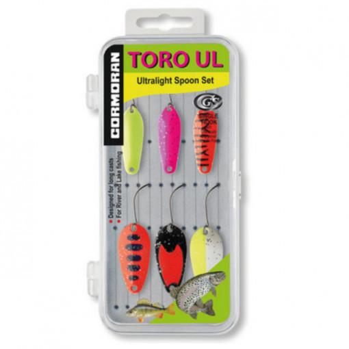 Set 6 lingurite oscilante pastrav Cormoran Toro UL4-UL5