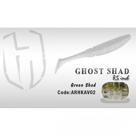 Poze Shad Ghost 8.5cm Green Shad  Herakles