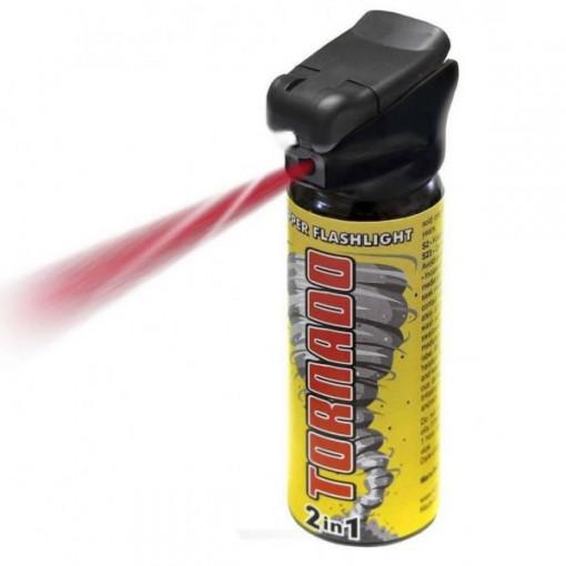 Spray autoaparare ESP Tornado cu lanterna, 63ml