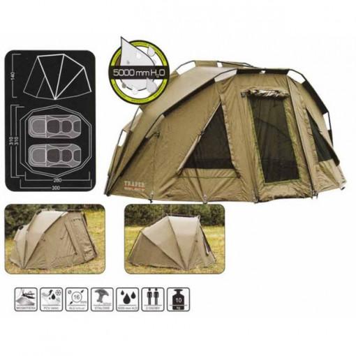 Cort camping Traper Select 2 persoane Baracuda