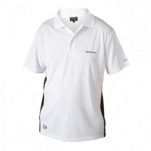 Tricou Polo alb  Daiwa