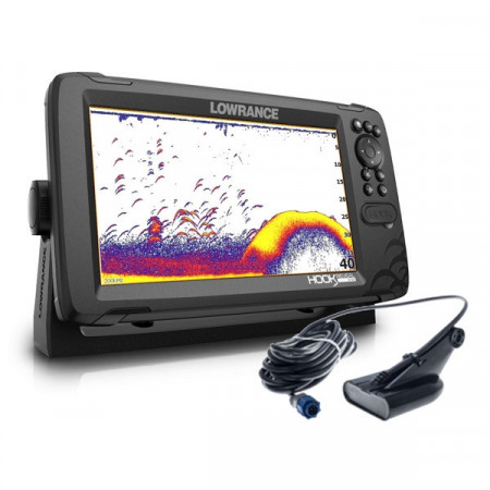 Sonar Lowrance HOOK Reveal 9, traductor 50/200 HDI, CHIRP Multifunctional, Chartploter, GPS